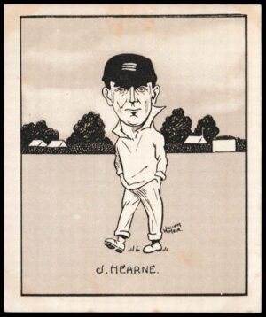 HENDRY -#12- VICTORIA LARGE CARD HILL-CARICATURES OF FAMOUS CRICKETERS